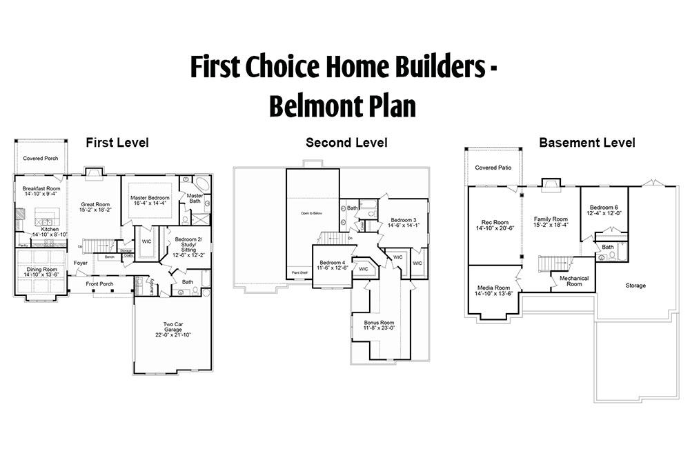 Belmont Floor Plan | Stallings Ridge