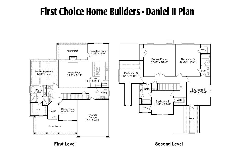 Daniel Floor Plan | Stallings Ridge