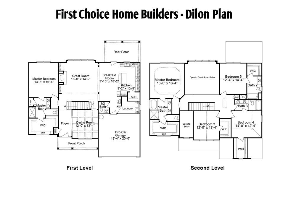 Dilon Floor Plan | Stallings Ridge