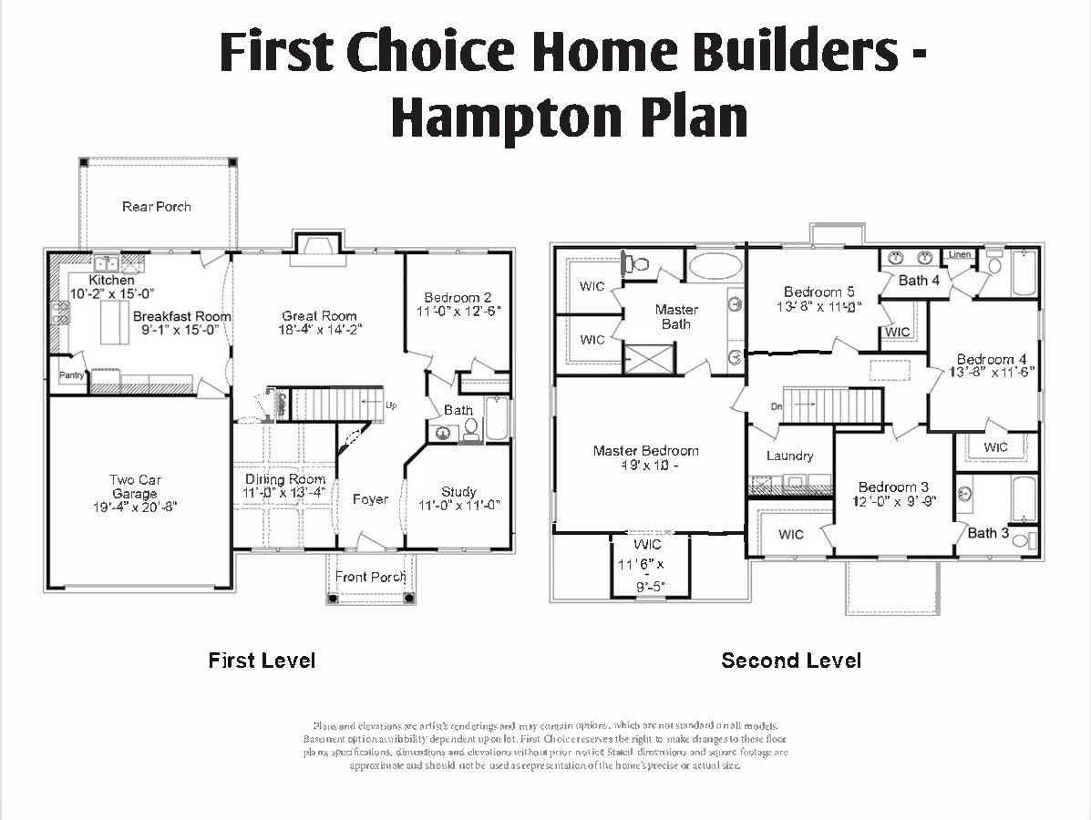 Hampton Floor Plan | Stallings Ridge