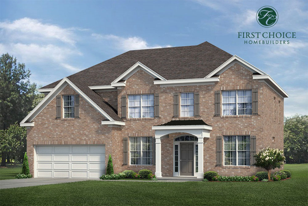 Hampton Floor Plan - Render | Stallings Ridge
