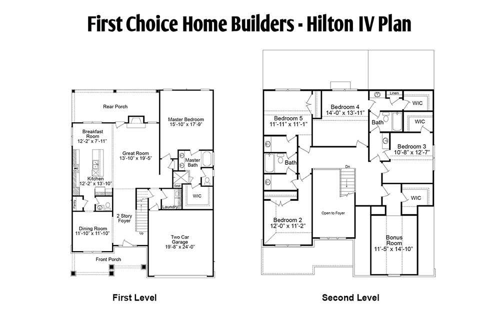 Hilton Floor Plan | Stallings Ridge