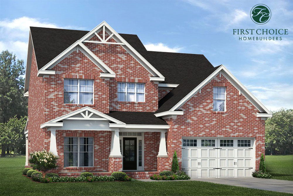 Hilton Floor Plan - Render | Stallings Ridge
