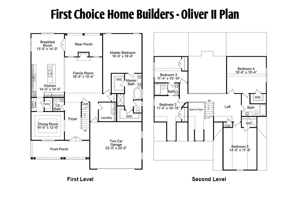 Oliver Floor Plan | Stallings Ridge