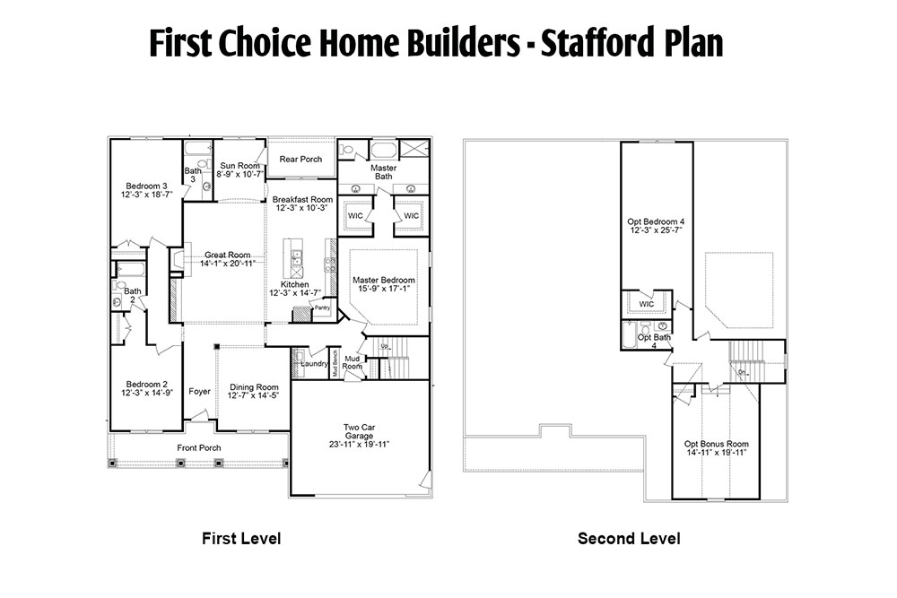 Stafford Floor Plan | Stallings Ridge