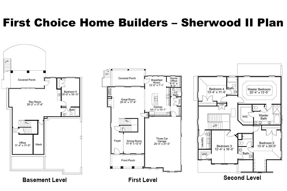 Sherwood II Floor Plan | Stallings Ridge