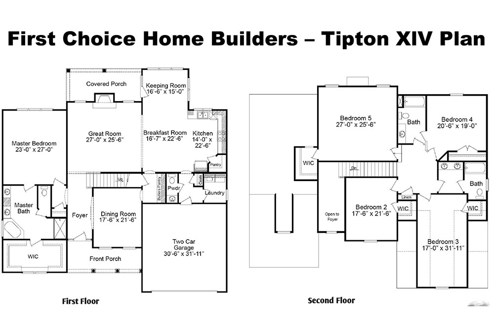 Tipton XIV Floor Plan | Stallings Ridge