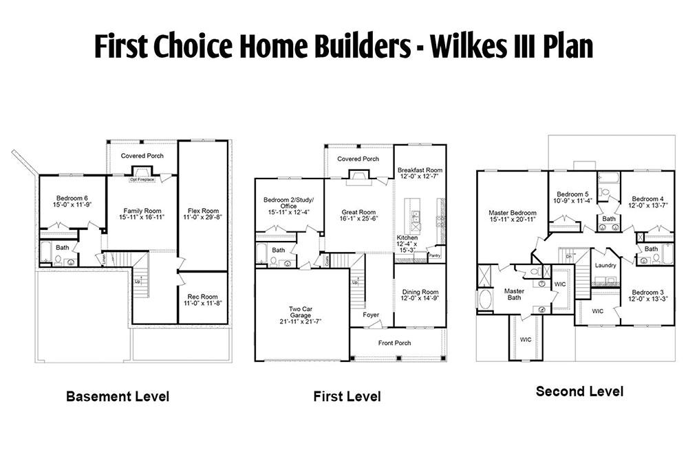 Wilkes III Floor Plan | Stallings Ridge